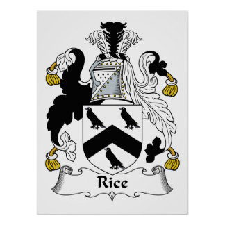 Rice Family Crest Poster