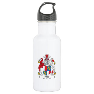 Rice Family Crest Stainless Steel Water Bottle