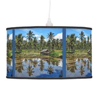 Rice Field Landscape Reflection Pendant Lamp