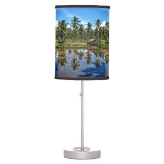Rice Field Landscape Reflection Table Lamp