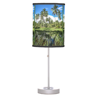 Rice Field Landscape Rows Upon Rows Table Lamp