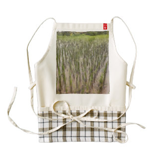 Rice fields and water zazzle HEART apron