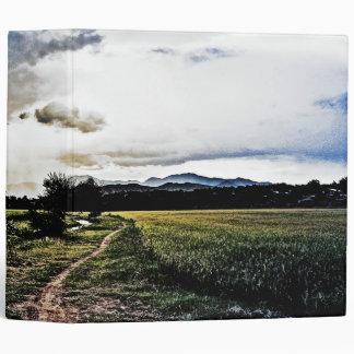 Rice fields on the way binder