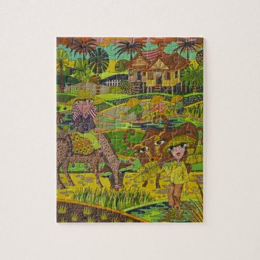 'Rice Harvest' Puzzle