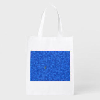 Rice in a blue solution grocery bags