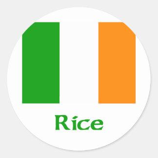 Rice Irish Flag Classic Round Sticker