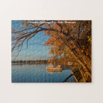 Rice Lake Minnesot Christmas Greetings Jigsaw Puzzle