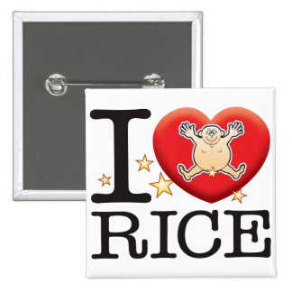 Rice Love Man Button