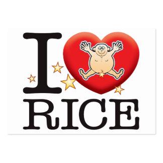 Rice Love Man Large Business Card