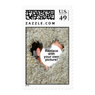 Rice Love Photo Template Stamp Vertical