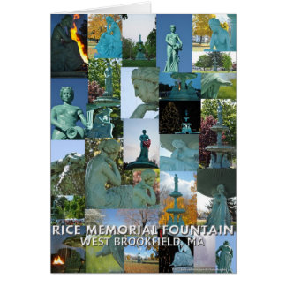 Rice Memorial Fountain Collage Note Card