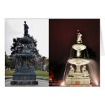 Rice Memorial Fountain Day and Night Blank Card