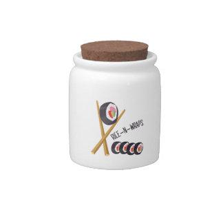 Rice-N-Wraps Candy Jars