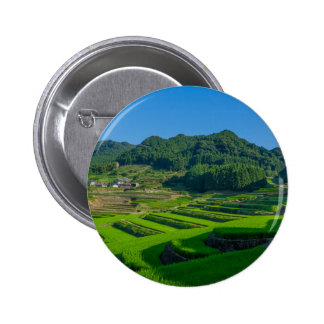 Rice Paddy Field in Japan Pinback Button
