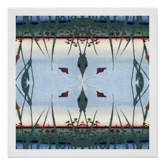 Rice Paddy Reflections Poster