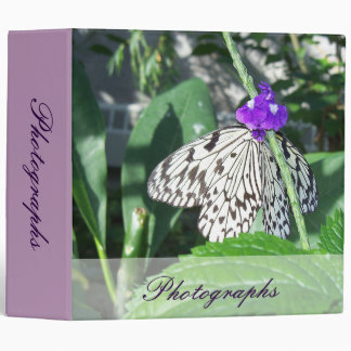 Rice Paper Butterfly 3 Ring Binder