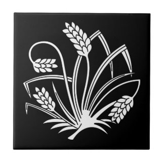 Rice plant butterfly tile