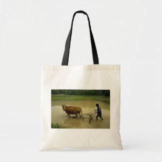 Rice Plough Tote Bag