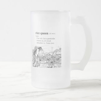 RICE QUEEN 16 OZ FROSTED GLASS BEER MUG