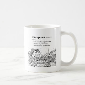 RICE QUEEN CLASSIC WHITE COFFEE MUG