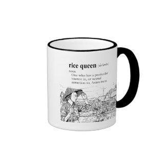 RICE QUEEN RINGER COFFEE MUG