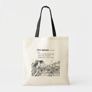 RICE QUEEN TOTE BAGS
