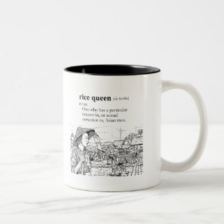RICE QUEEN Two-Tone COFFEE MUG