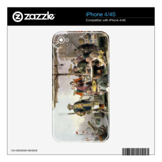 Rice Sellers at the Military Station of Tong-Chang iPhone 4 Decal