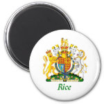 Rice Shield of Great Britain 2 Inch Round Magnet