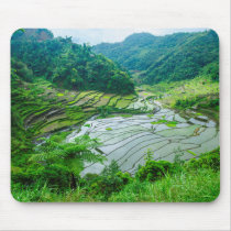 Rice terrace landscape, Philippines Mouse Pad