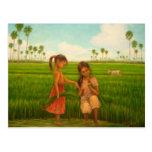 """Rice Transplant"" by Kyoko Yamaji Postcard"