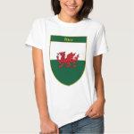Rice Welsh Flag Shield T-Shirt