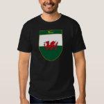 Rice Welsh Flag Shield Tee Shirt