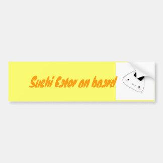 riceball, comedor del sushi a bordo etiqueta de parachoque
