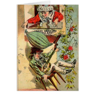Rices Seeds Vintage Ad Greeting Card