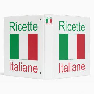 Ricette Italiane (Italian Recipes) 3 Ring Binder