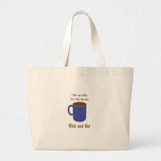 Rich and hot! Coffee like men t-shirts and gifts Tote Bag