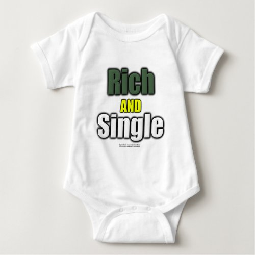 Rich AND Single Baby Bodysuit