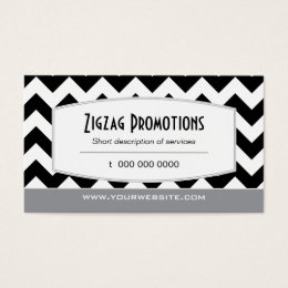 Rich Black Chevron Business Card