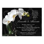 "Rich Black w/ Orchid Rehearsal Dinner Invitations 5"" X 7"" Invitation Card"