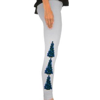 Rich Blue Christmas Tree Leggings