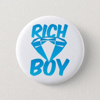 Rich boy pinback button