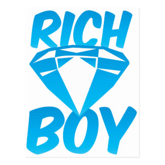 Rich boy postcard