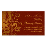 Rich Brick Red, Gold Reverse Swirl Business Cards