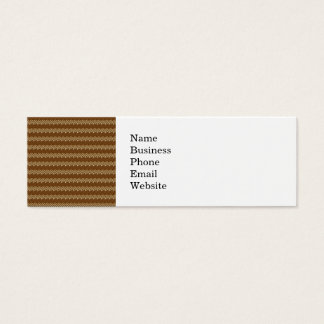 Rich Brown and Linen Fall Harvest Leaf Pattern Mini Business Card