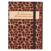 Rich Brown and Tan Giraffe Print iPad Air Case
