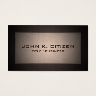 Rich Brown Border Professional Business Card