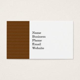 Rich Brown Diamond Scroll Pattern Business Card