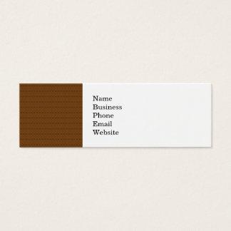 Rich Brown Diamond Scroll Pattern Mini Business Card