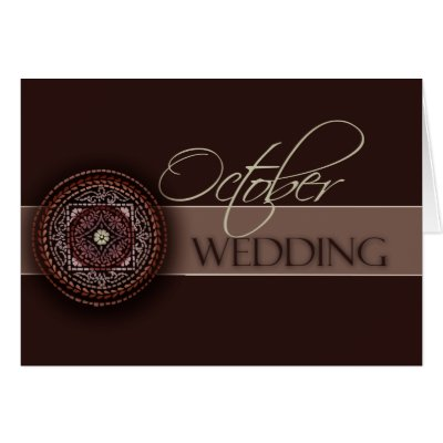 Rich Brown October Wedding Cards by aslentz